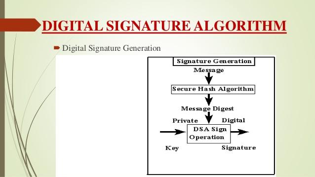 What is Digital Signature Algorithm and Digital Signature