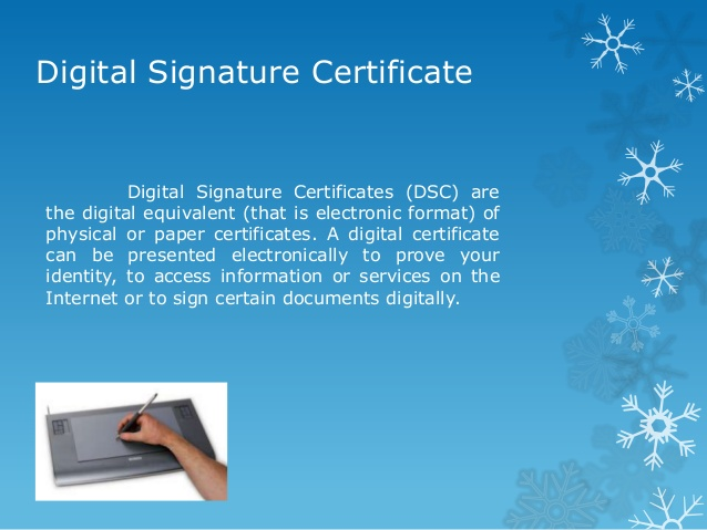 what is digital signature certificate and digital