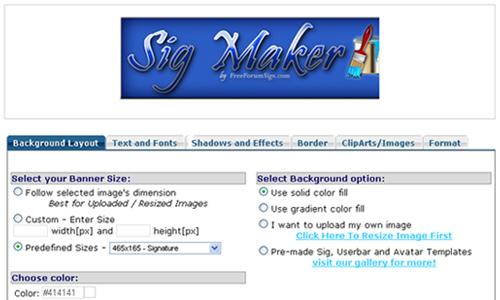 signature generator forums