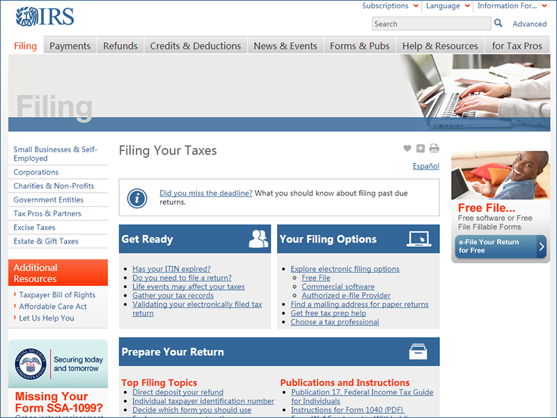Top 5 Ways to Free e-Filing Income Tax Online