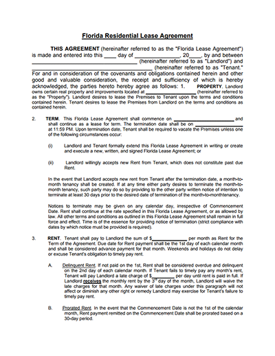 Residential Lease Agreement Templates Free Download Edit And Sign