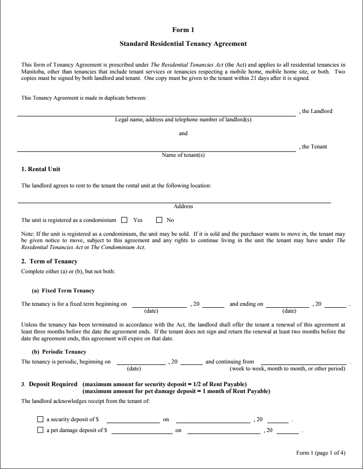 residential tenancy agreement pdf