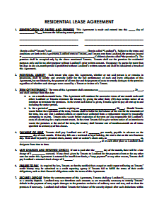 Charming Sample Lease Agreement Template
