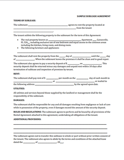 Sublease Agreement Templates Free Download Edit And Sign