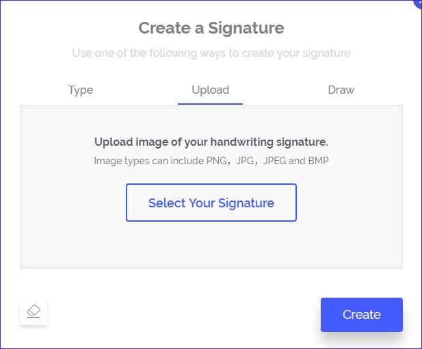 upload signature
